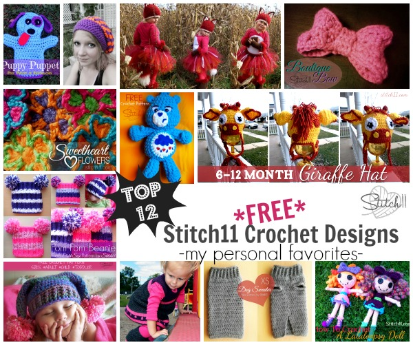 Top 12 (FREE) Stitch11 Crochet Designs