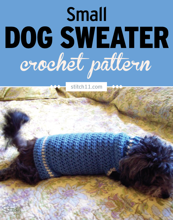 Small Dog Sweater Crochet Pattern -This Small Dog Coat Crochet Pattern is just what you need to keep your dog warm on cold days. Dogs of all sizes can have thin hair and get cold in the winter. #crochet #crochetlove #crochetlife #crochetaddict #crochetpattern #crocheteveryday #crochetinspiration #ilovecrochet #crochetgifts #crochet365 #addictedtocrochet #yarnaddict #yarnlove