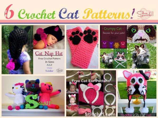 6 Crochet Cat Patterns