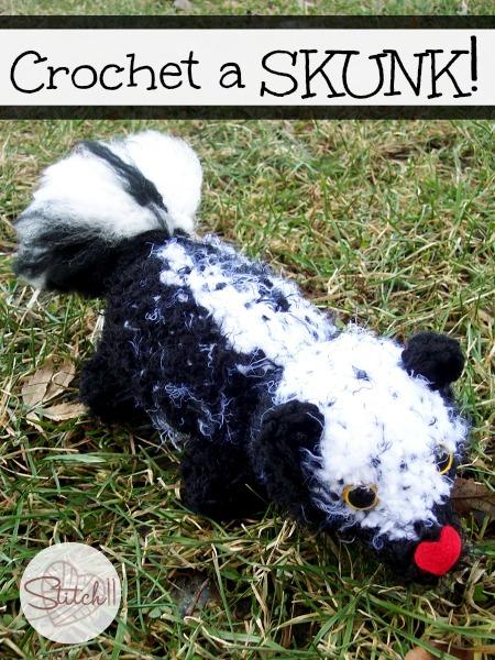 Free Skunk Crochet Pattern