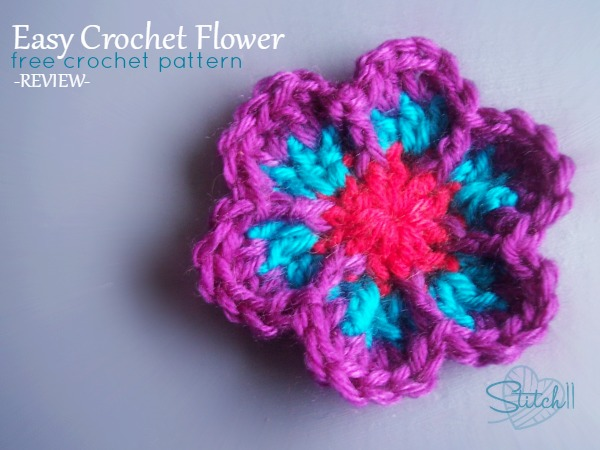 Easy Crochet Flower Free Crochet Pattern Review Stitch11