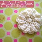 Simple Crochet Flower - Free Crochet Pattern - Review