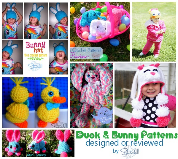 Duck and Bunny Patterns Designed or Reviewed By Stitch11
