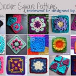 15 Crochet Square Patterns - Reviewed or Designed by Stitch11