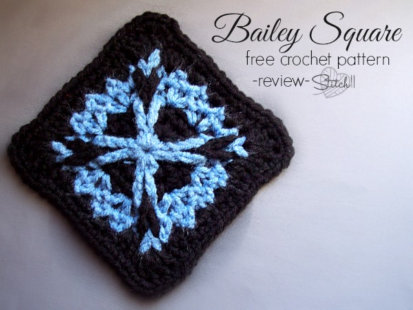 Bailey Square - Free crochet pattern - review