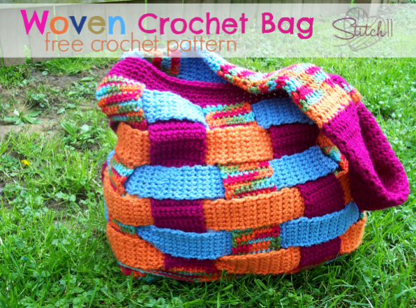 Woven Crochet Bag Free Crochet Pattern Stitch11