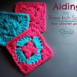 aiding - the three inch square - free crochet pattern