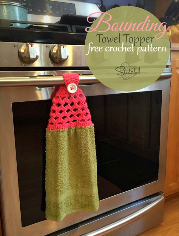 Bounding Towel Topper - Free Crochet Pattern