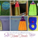 Six Crochet Patterns For Hand Towels