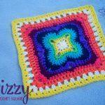 Dizzy - 12 inch crochet square - free crochet pattern by Stitch11