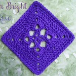 Star Bright - 6 inch crochet square