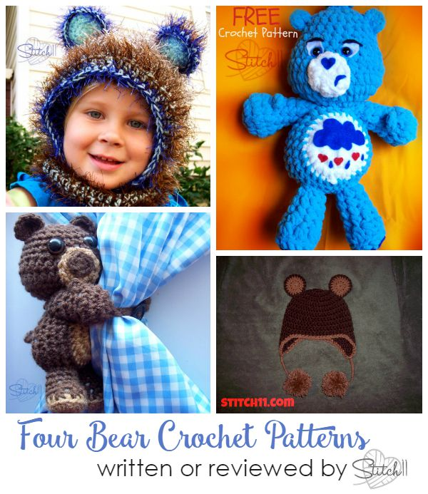 Four Bear Crochet Patterns Written or Reviewed by Stitch11