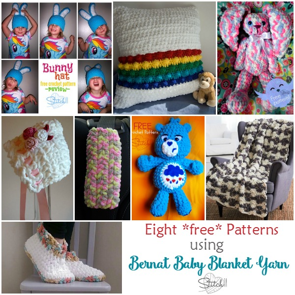 8 Free Crochet Patterns That Use Bernat Baby Blanket Yarn Stitch11