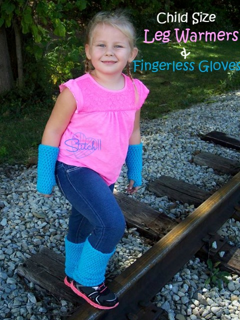 Child Size Leg Warmers And Fingerless Gloves Stitch11