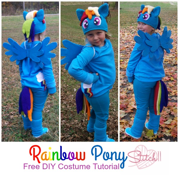 Free DIY Rainbow Pony Costume Tutorial