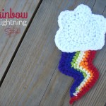 Rainbow Lightning - Free Applique Crochet Pattern
