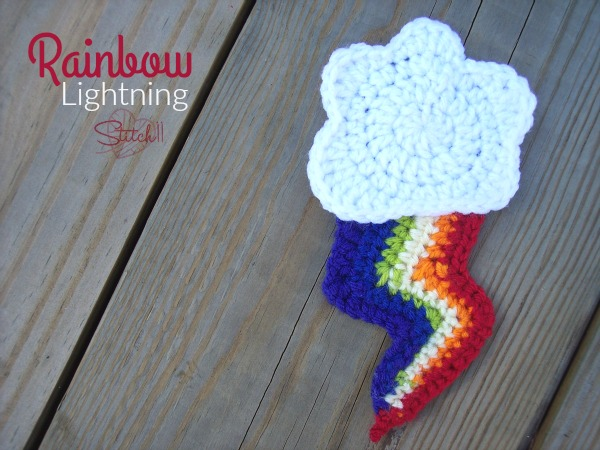 Rainbow Lightning - Free Applique Crochet Pattern