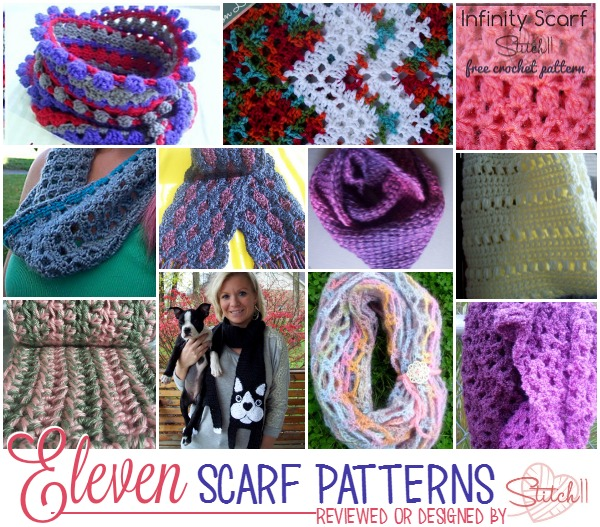 Eleven Scarf Patterns - Reviewed or Designed by Stitch11