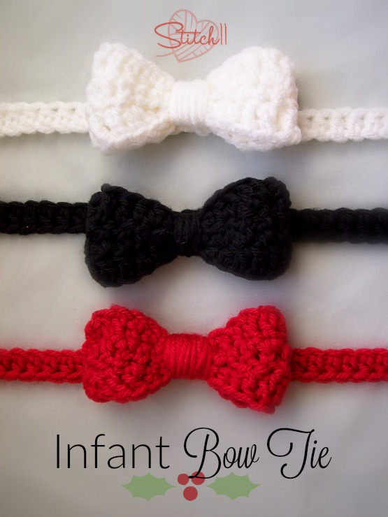 Infant Bow Tie Free Crochet Pattern Stitch11