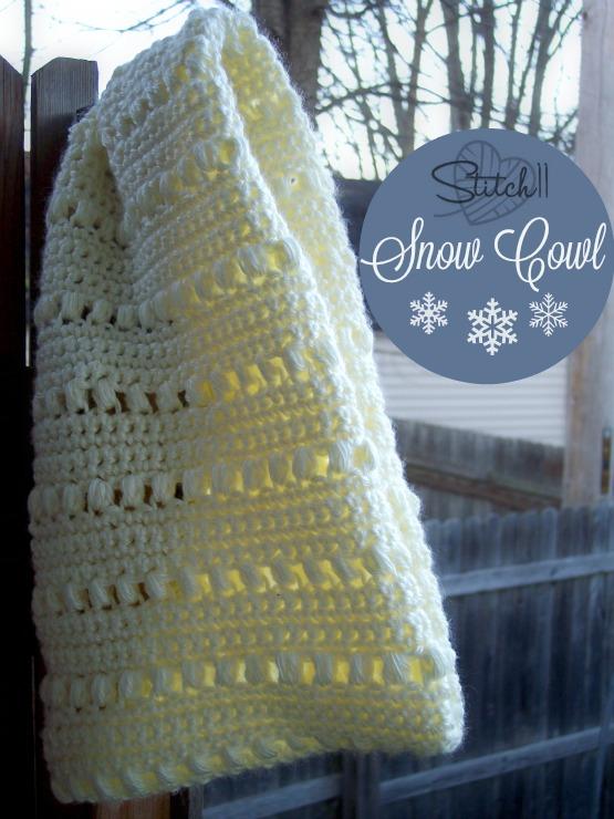 Stitch11 Snow Cowl - Free Crochet Pattern