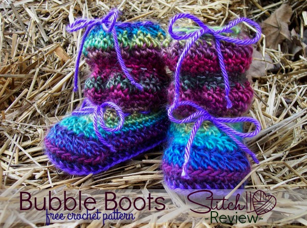 Bubble Boots - Free Crochet Pattern - Review - Stitch11