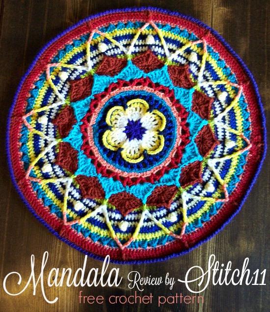 Mandala - Free Crochet Pattern - Review by Stitch11