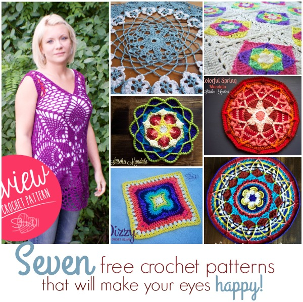 Seven Free Crochet Patterns That Will Make Your Eyes Happy - Stitch11