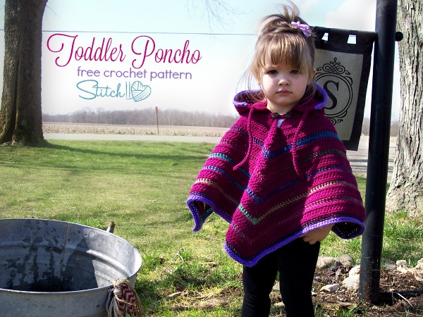 Free Toddler Poncho Crochet Pattern By Stitch11 Stitch11
