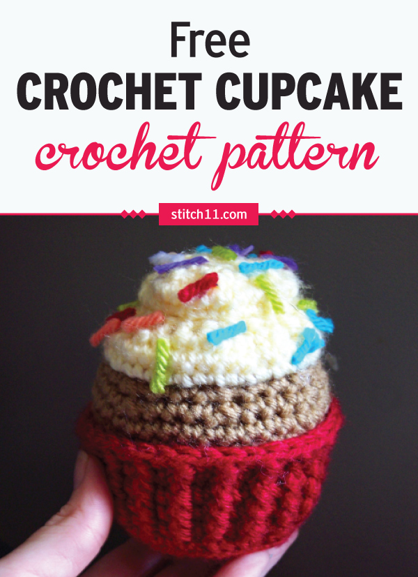 This Crochet Toy Cupcake can be a nice alternative to the usual plastic or rubber toys. It's soft and less of a danger to young kids who like to throw things around. #crochet #crochetlove #crochetlife #crochetaddict #crochetpattern #crochetinspiration #ilovecrochet #crochetgifts #crochet365 #addictedtocrochet #yarnaddict #yarnlove