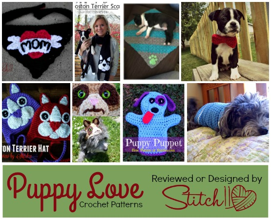 Puppy Love Crochet Patterns Reviewed or Designed by Stitch11
