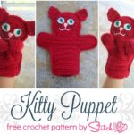 Kitty Puppet - Free Crochet Pattern- Design by Stitch11