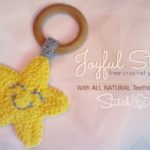 Joyful Star Teething Ring - Free Crochet Pattern