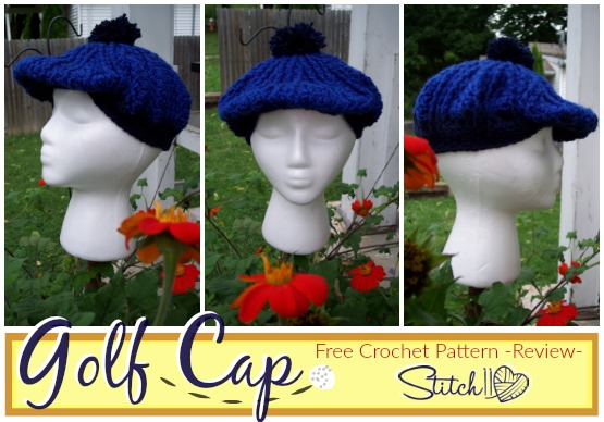 Golf Cap - Free Crochet Pattern - Review by Stitch11- Design by Moogly