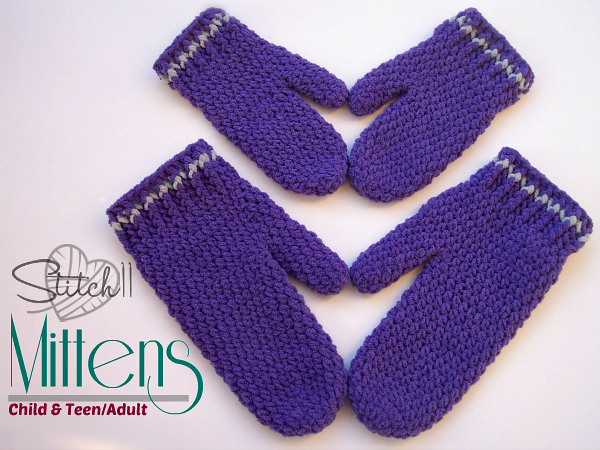 Child Adult Cutie Pie Mittens Stitch11