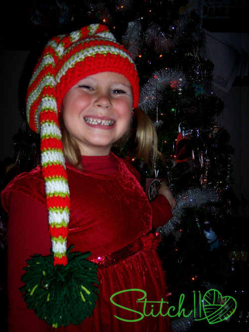 Free Crochet Elf Stocking Hat - All Sizes - Stitch11