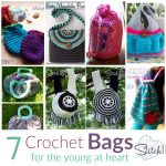 seven free crochet patterns for bags by stitch11
