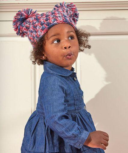 Pom-Dorable Hat - Design by Corina Gray - Red Heart Baby Hugs