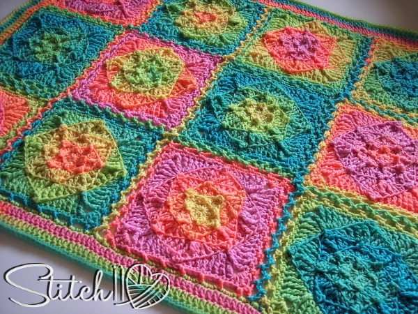 Retro Illusion Baby Blanket Stitch11
