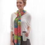 Hopscotch Skinny Scarf - Free Crochet Pattern