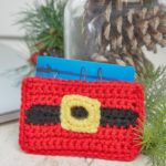 Crochet Santa Gift Card Holder