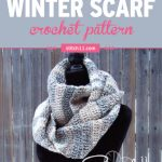 This simple infinity scarf crochet pattern may be super easy to make, but it