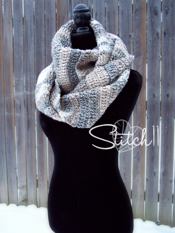 Somersault Winter Scarf Free Crochet Pattern Stitch11 Large