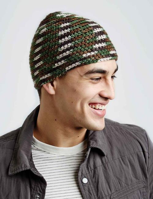Camo Crochet Hat