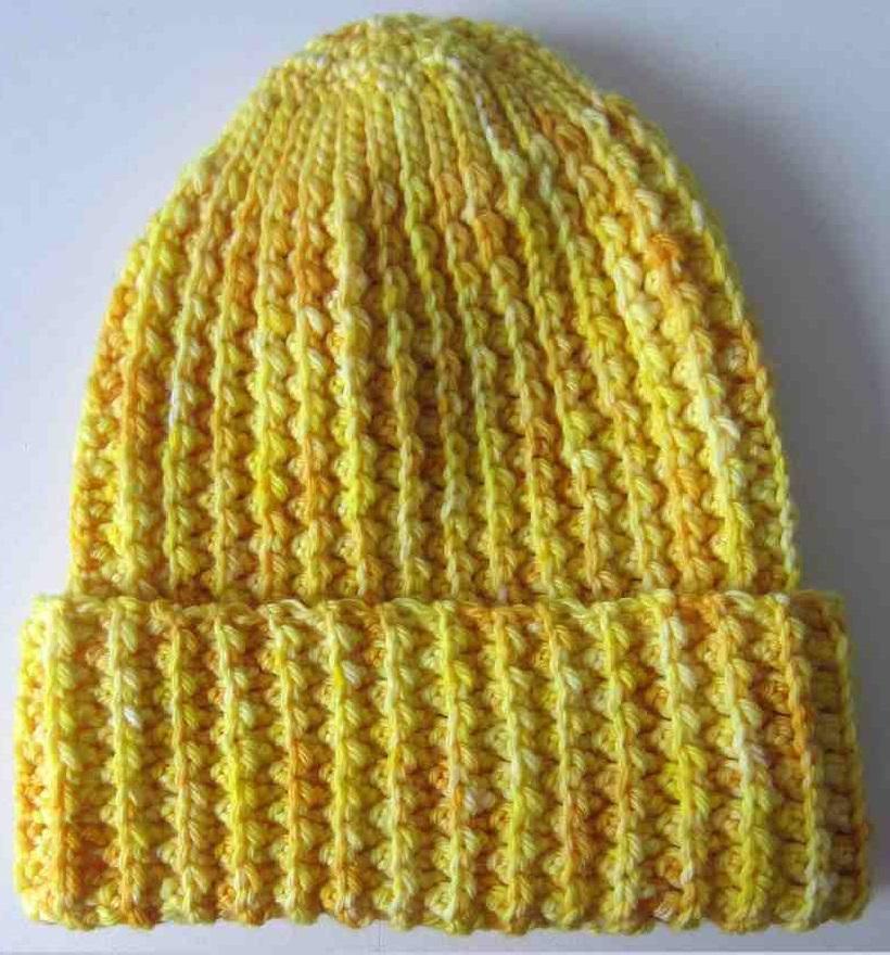 Faux Mistake Rib Watchman Cap Crochet