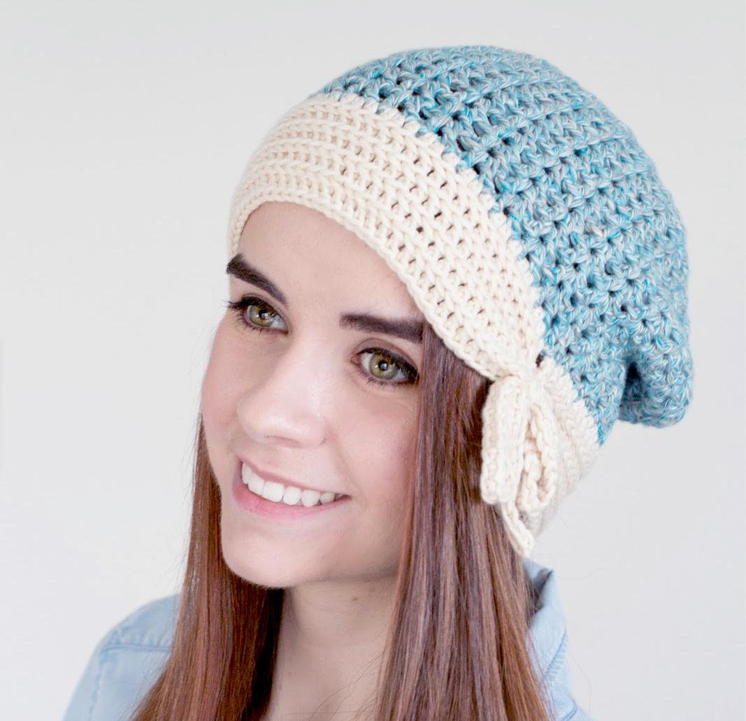 Ivory Ocean Beanie Crochet Pattern