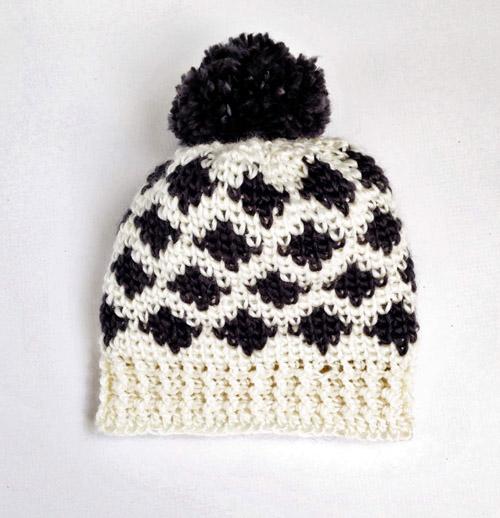 Modern Ikat Hat