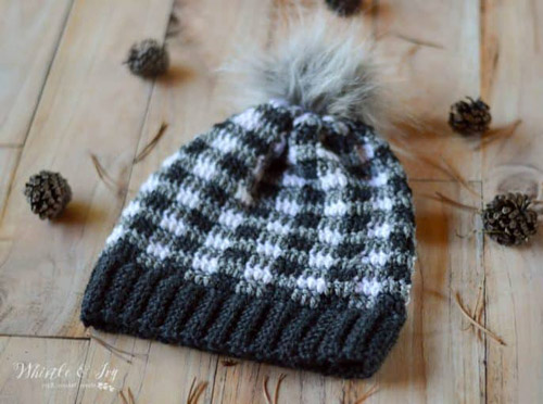 Plaid Slouchy Hat