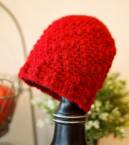 Puff Stitch Slouch Crochet Pattern