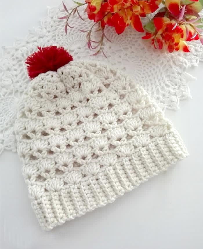Shell V Shell Crochet Slouch