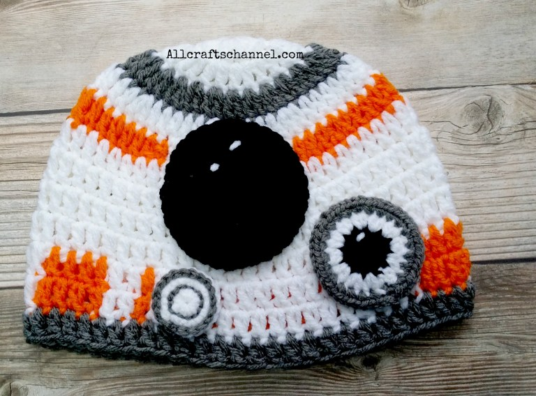 Star Wars Inspired BB-8 Hat Crochet Pattern